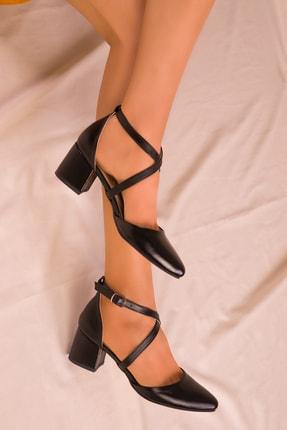 Soho Exclusive Siyah Kadın Klasik Topuklu Ayakkabı 14392 1