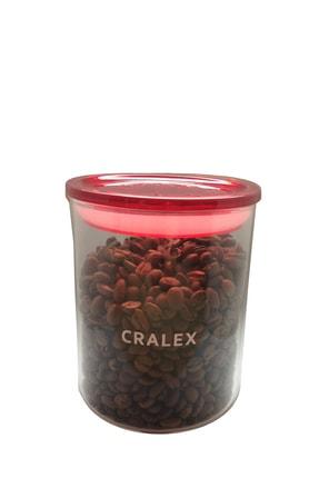 CRALEX Optima 850 ml Kırmızı Kapaklı Borosilikat Cam Kavanoz 0