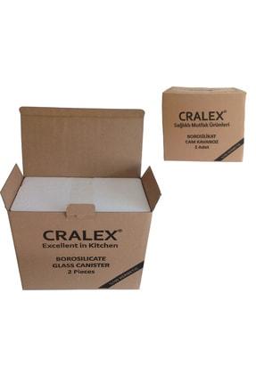CRALEX Optima 850 ml Kırmızı Kapaklı Borosilikat Cam Kavanoz 3