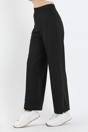 Twenty3 Kadın Siyah Bol Paça Pantolon 3