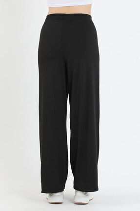 Twenty3 Kadın Siyah Bol Paça Pantolon 4