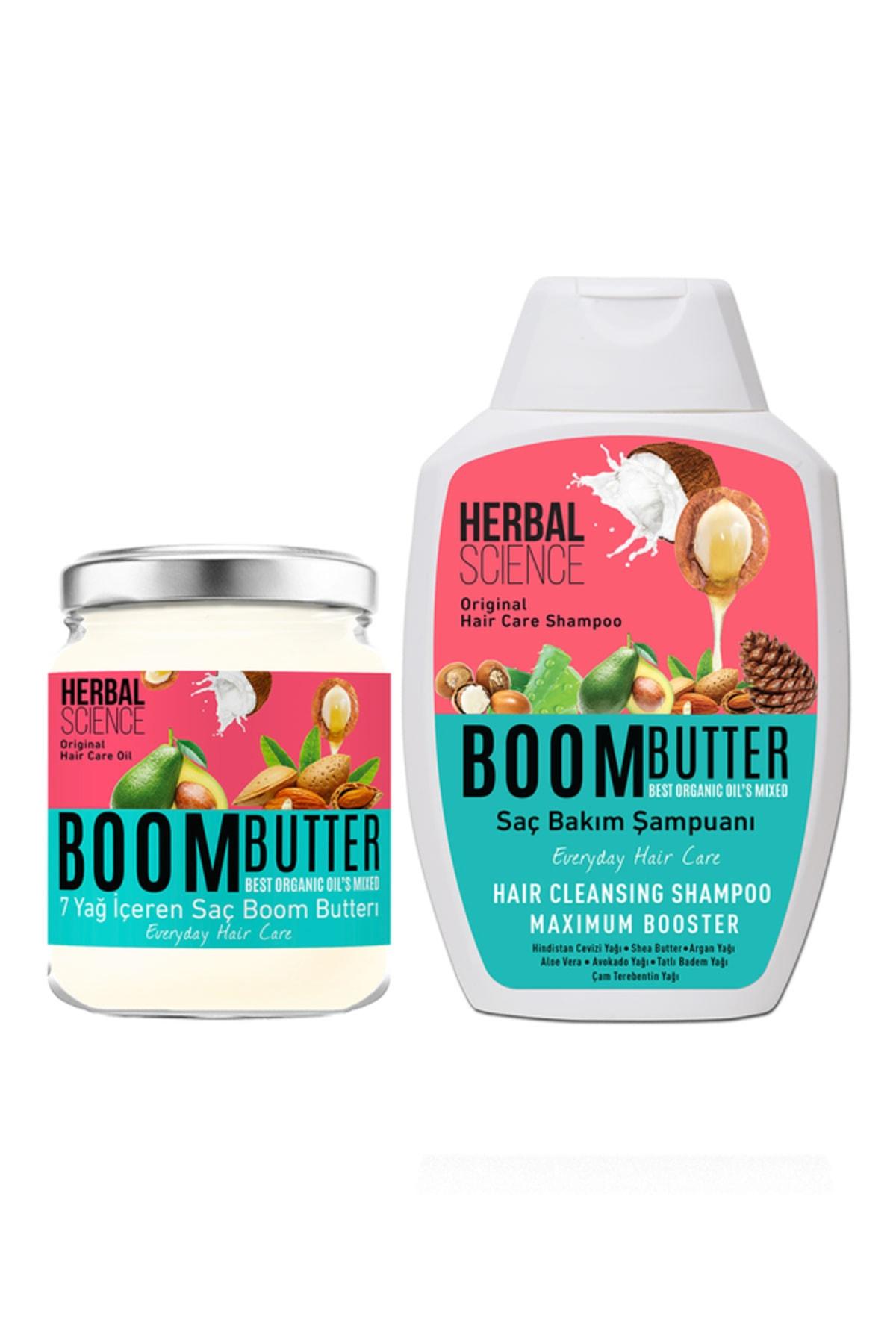 Herbal Science Boom Butter Saç Bakım Yağ ve Şampuan Paketi 8682427005466 0