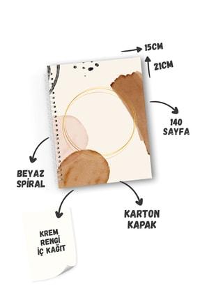 CoNotes 3'lü Spiralli Kareli Defter Seti - Brown Series 3