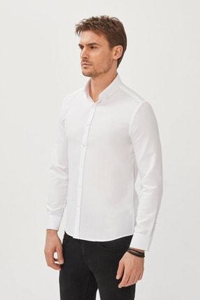 Avva Erkek Beyaz Oxford Düğmeli Yaka Slim Fit Gömlek E002000 0