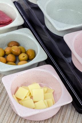 Cooker Shop Seramik 6'lı Lüx Kapaklı Renkli Kahvaltılık Seti 4