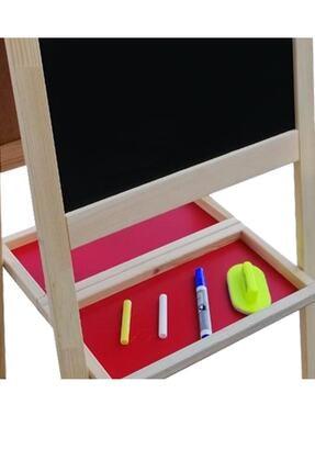 Damla Toys Çift Taraflı Ayaklı Ahşap Çocuk Yazı Tahtası 110x45 3