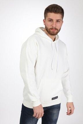 Millionaire Erkek Ekru Kapşonlu Oversize Sweatshirt 1