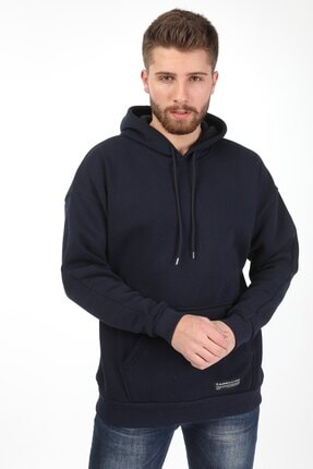 Millionaire Erkek Lacivert Kapüşonlu Oversize Sweatshirt 1