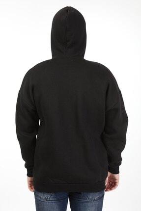 Millionaire Erkek Siyah Kapüşonlu Oversize Sweatshirt 4