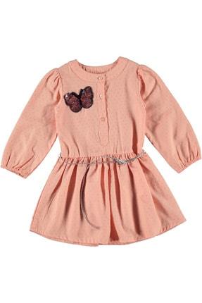 Timo Kız Çocuk Pudra Aplikeli Elbise 153309040 1