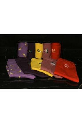 Adel Renkli Meyve Emojili Çorap Takımı 5 Çift 1