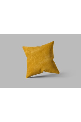 Cortibo Soft Kırlent Kılıfı Koyu Sarı 0