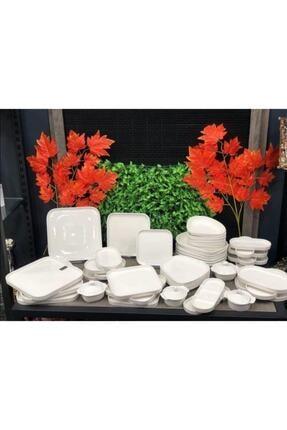 ACAR Bone Porselen 23 Cm 6'lı Kare Servis Tabağı 10342 1