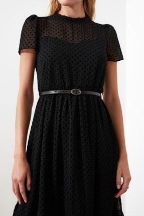 TRENDYOLMİLLA Siyah Kemerli Elbise TWOSS20EL0983 3