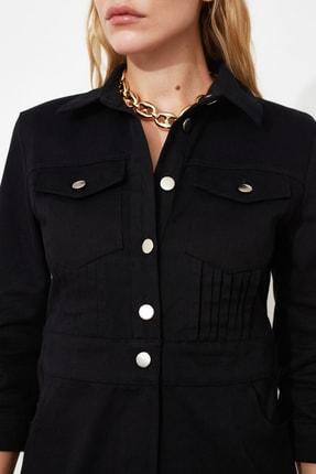 TRENDYOLMİLLA Siyah Düğmeli Elbise TWOSS21EL0748 4