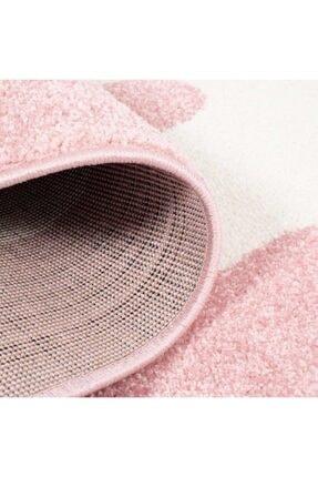 vinosahome Vinosa Home Bulut Şekilli Pembe Renk Bebek Ve Çocuk Odası Halısı 3
