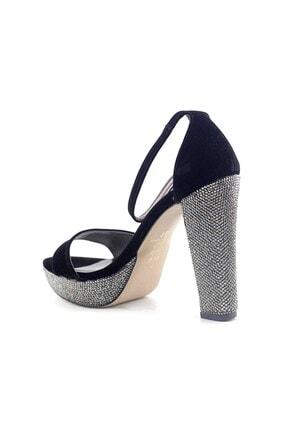 PUNTO Kadın Siyah Süet Topuklu Ayakkabı 655101 1