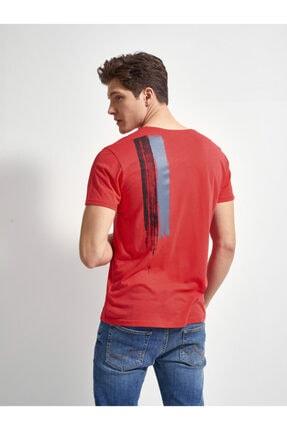 Ltb Erkek  Kırmızı  Baskılı  Kısa Kol Bisiklet Yaka T-Shirt 0122084544601460000 3