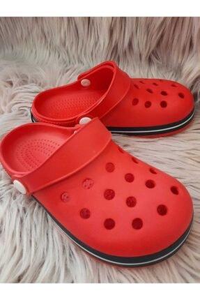 Akınalbella Çocuk Kırmızı Beyaz Lacivert Crocs Terlik 1