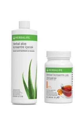 Herbalife Herbal Aloe Konsatre Içecek Şeftali Aromalı 50 Gr Çay 0