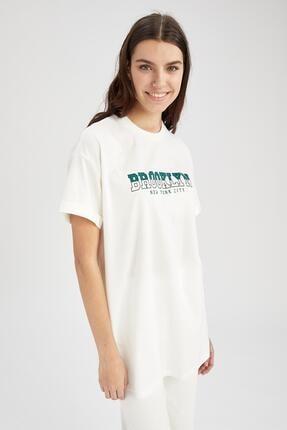 Defacto Kadın  Kısa Kol  T-Shirt 2