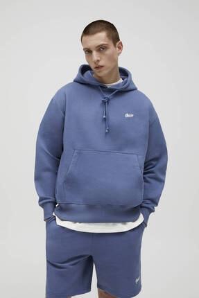 Picture of Basic Renkli Kapüşonlu Sweatshirt