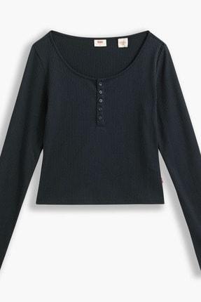 Levi's Brandy Ls Tee Caviar Siyah Kadın Tişört 0