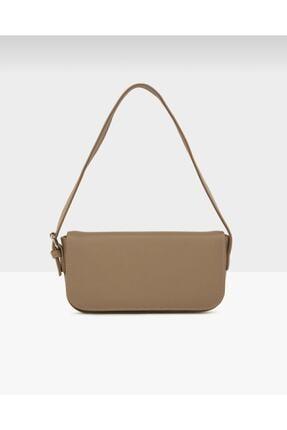bag&more Kadın Vizon Kapaklı Baget Çanta 0
