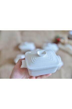 AROW 6 Lı Porselen Dikdörtgen Kapaklı Kase 0
