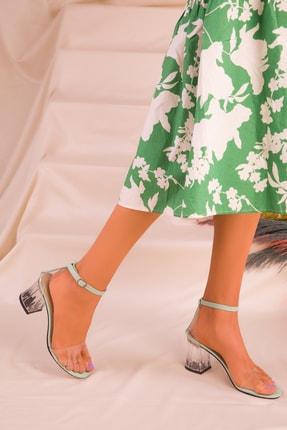 Soho Exclusive Yeşil Kadın Klasik Topuklu Ayakkabı 16132 3