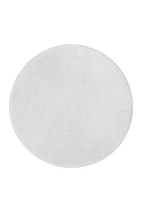 Dijidekor Beyaz Yuvarlak Post Dokuma Halı Peluş Yumuşacık Kaymaz Antibakteriyel 180x180 1