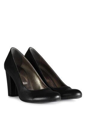 Kadın Siyah Büyük Numara Topuklu Ayakkabı 12595SYC