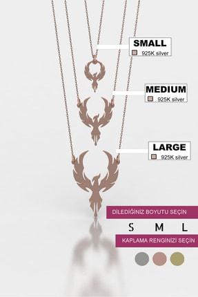 diamood jewelry Anka Kuşu Gümüş Kolye | Materyal Boyutunuzu S - M - L Den Birini Seçiniz 0