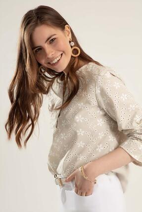Pattaya Kadın Çiçekli Uzun Kollu Bluz Y20s110-0381 2