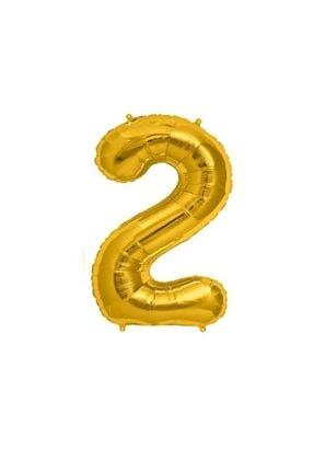 Çetinkaya Süs Folyo Helium Balloon Gold 2 Rakamlı (40 Inç 100 Cm) 0