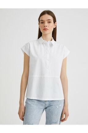 Koton Kadın Beyaz Gömlek Yaka Bluz 2