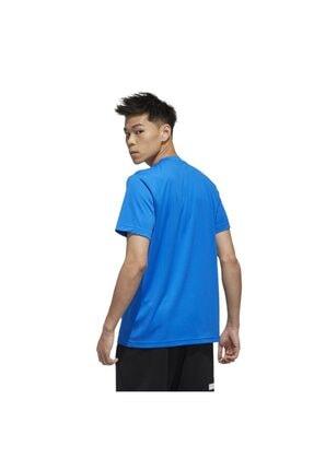 adidas Erkek Mavi Beyaz  M D2m Pl Tee Tişört 1