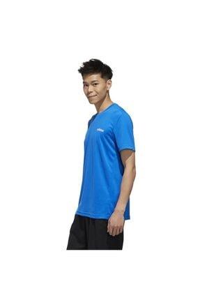 adidas Erkek Mavi Beyaz  M D2m Pl Tee Tişört 2