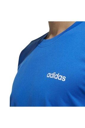 adidas Erkek Mavi Beyaz  M D2m Pl Tee Tişört 3