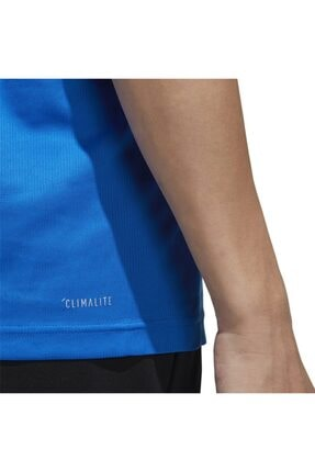 adidas Erkek Mavi Beyaz  M D2m Pl Tee Tişört 4