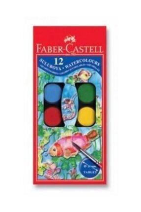 Faber Castell Küçük Hazneli Suluboya 12 Renk 0
