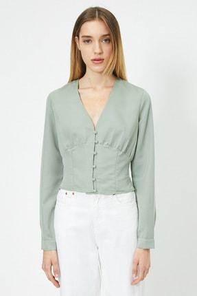 Koton Kadın Su Yeşili Bluz 0KAL68861IW 1
