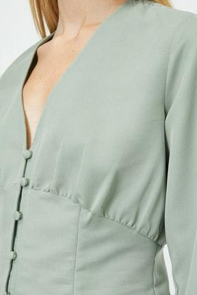 Koton Kadın Su Yeşili Bluz 0KAL68861IW 3