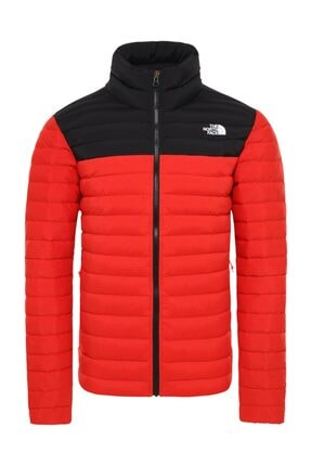 The North Face Stretch Down Erkek Outdoor Mont Kırmızı/Siyah 0