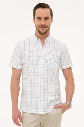 Picture of Açık Gri Regular Fit Kısa Kollu Gömlek