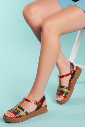 Muggo Hakiki Deri Sandalet Sndt04 0
