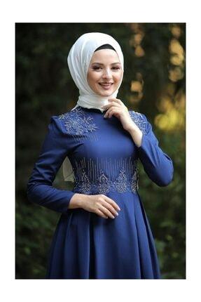 Tesettür Dünyası Kadın İndigo Abiye TSD9651 3
