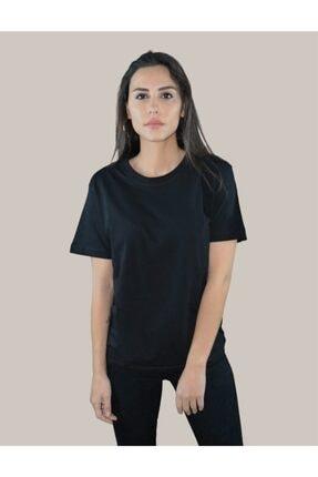 BASIC MIRROR Kadın Vantablack Regular Fit Basic T-shirt 2