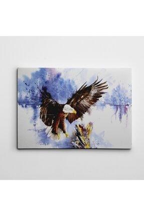 Dekolata Kartal Ve Ağaç Suluboya Kanvas Tablo 60 x 85 cm 0