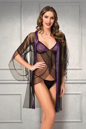 For Dreams 4970 Dior Ikili Gecelik Takım-mor 0